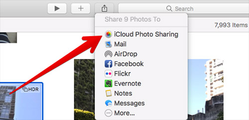 icloud photo sharing on mac
