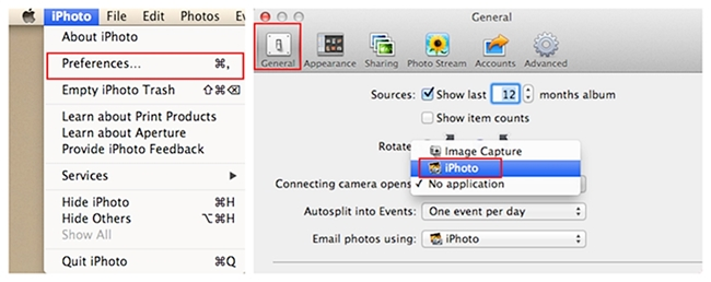 transfer iphone photos to mac using iphoto - 1