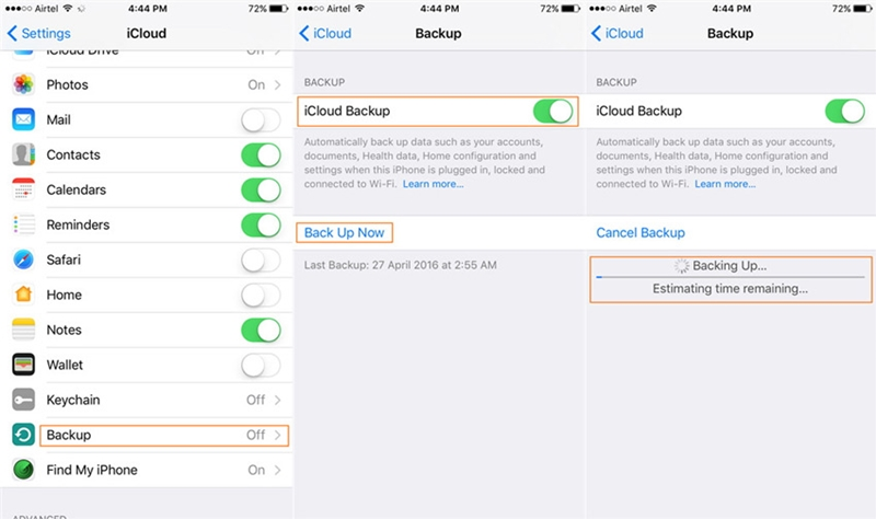 how to backup iphone-backup iphone contacts with icloud