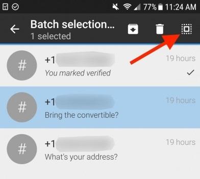 delete bulk conversions