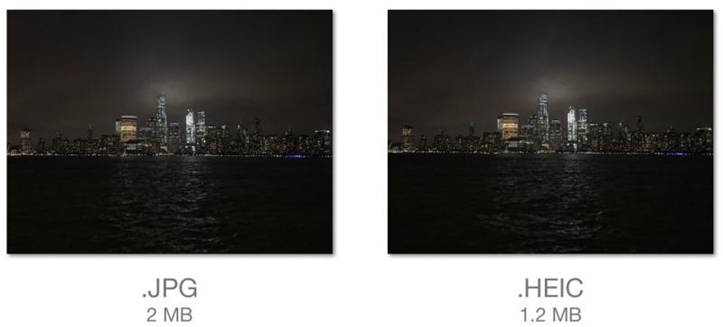 heic photo vs jpg photo