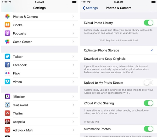 optimize iphone storage