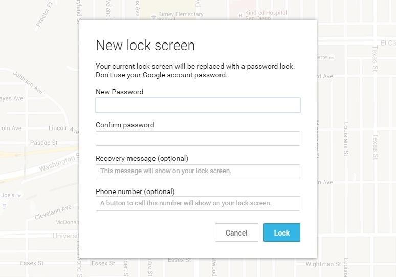 设置新的锁定屏幕
