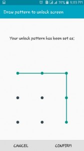 setup android pattern lock screen-provide the same pattern