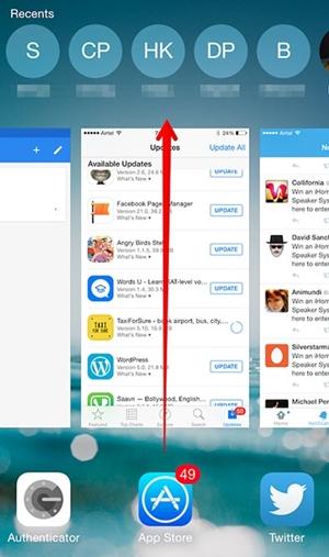fermer les applications en arrière-plan sur l'iphone