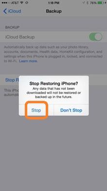 whatsapp-wiederherstellung stoppen