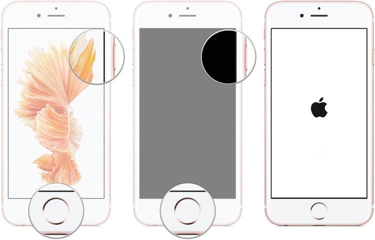 forcer le redémarage de l'iphone 6s