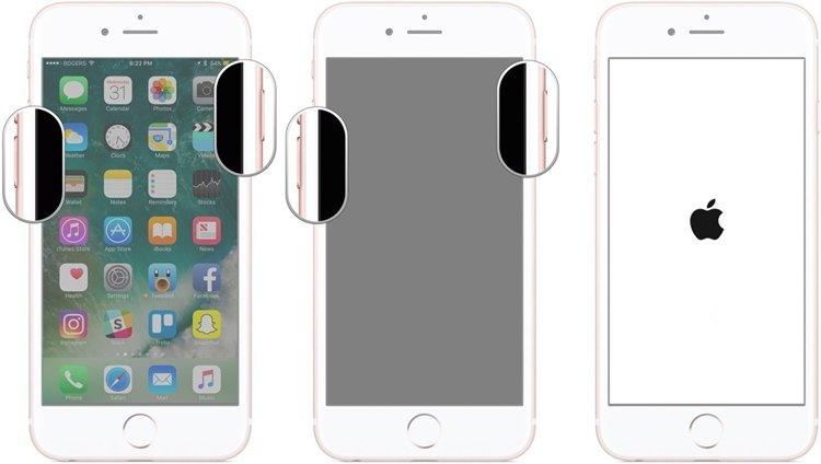 forcer le redémarage de l'iphone 7