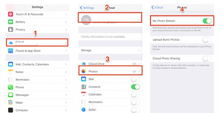 access icloud photos from photo stream