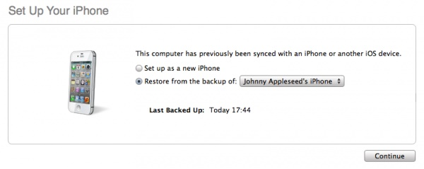how to put icloud backup on new phone