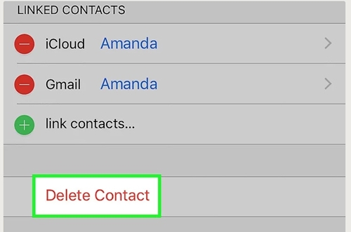 delete iPhone 8/X/7/6S/6 (Plus) contacts directly
