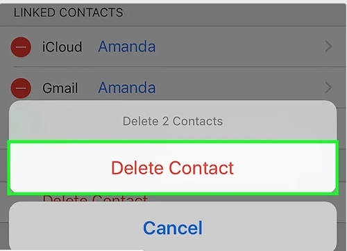 remove contacts on iPhone 8/X/7/6S/6 (Plus) directly