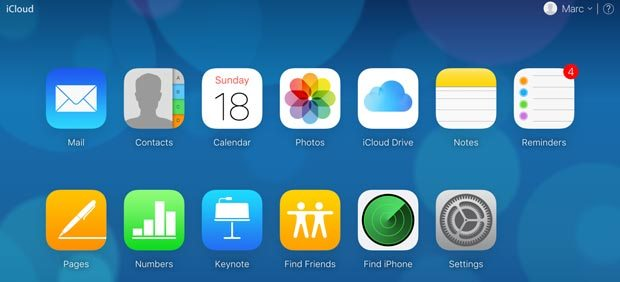 locate the Find iPhone icon
