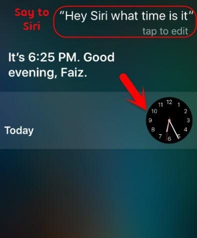demander à Siri le temps