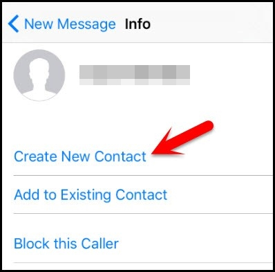 créer un nouveau contact