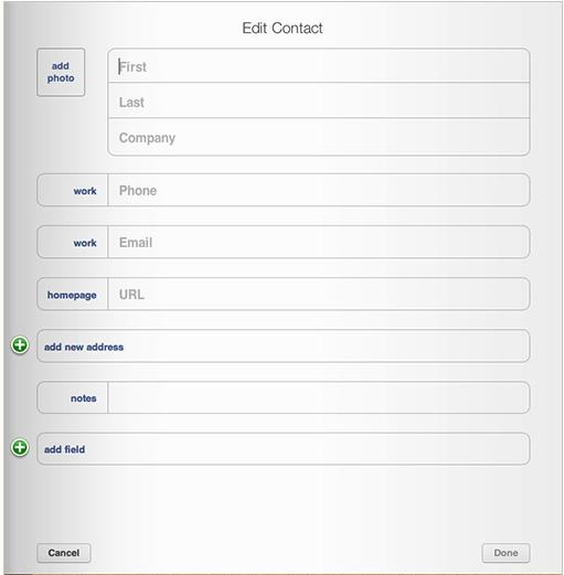 add contacts to icloud