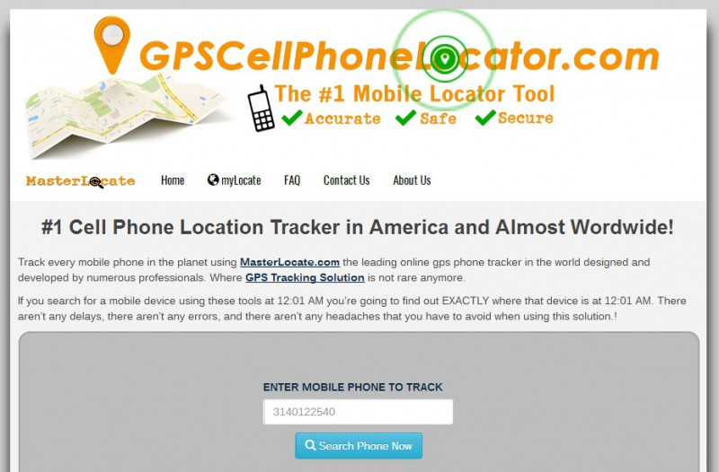 track a phone via GPS CellPhone Locator