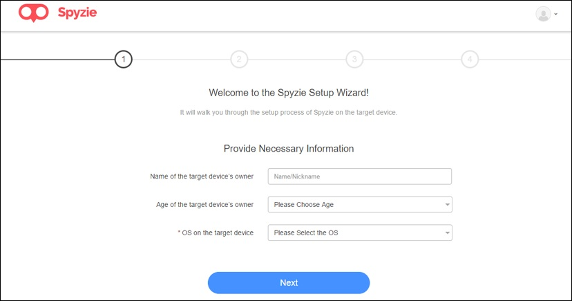track a cell phone with Spyzie-provide the target devices information