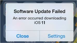 error occured installing ios 11