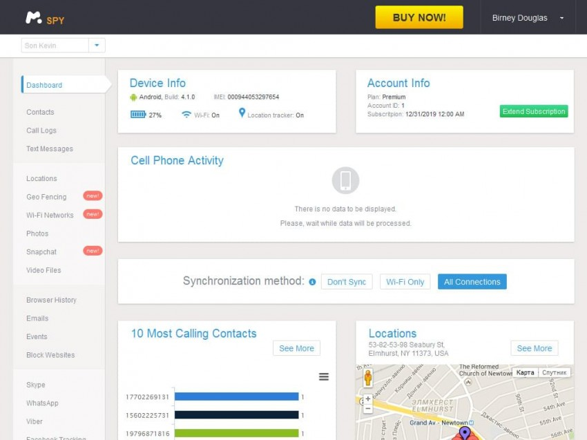 Track someone's Phone via mSpy-access the dashboard to begin tracking