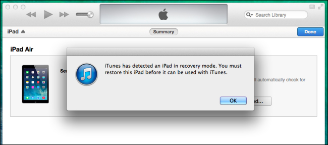 Unlock iPad in Recovery Mode-iTunes will detect your iPad