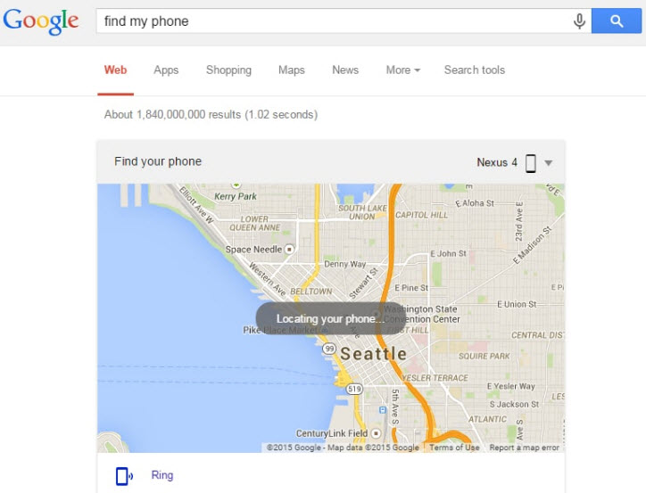 track a cell phone-type in