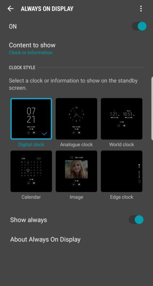 change Samsung lock screen clock-pick clock formats
