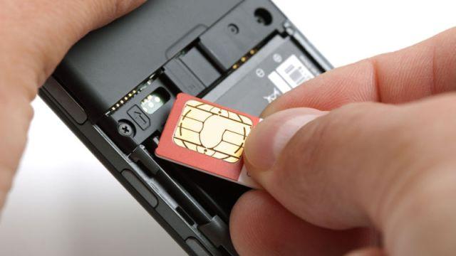 remove the SIM card