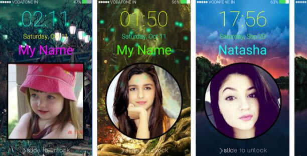 top Photo Keypad Lock Screen Apps-My Name Lock Screen