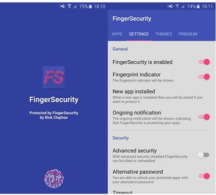 lock apps with fingerprint android-FingerSecurity
