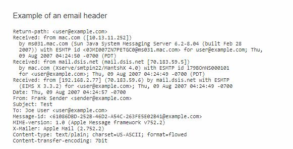 Trace Email and Get The IP Address-get results for your tracing method