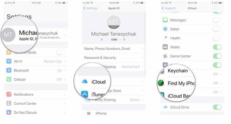 how to trace a cell phone- enable Find My iPhone option