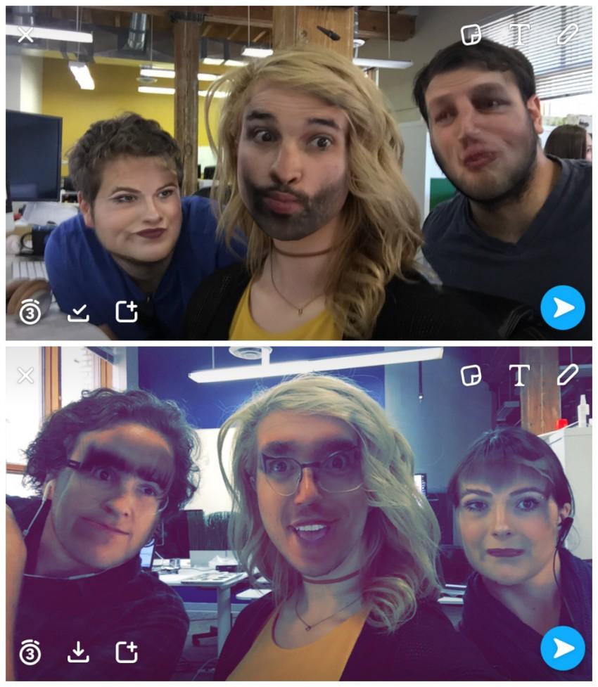 snapchat hack-3-way face swap