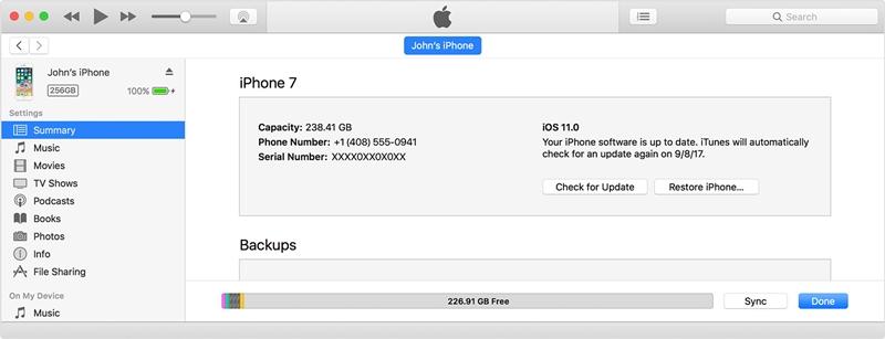 mettre à jour l'iphone pour corriger l'iphone écran rouge