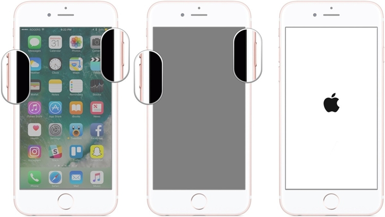 强行重启iphone 6