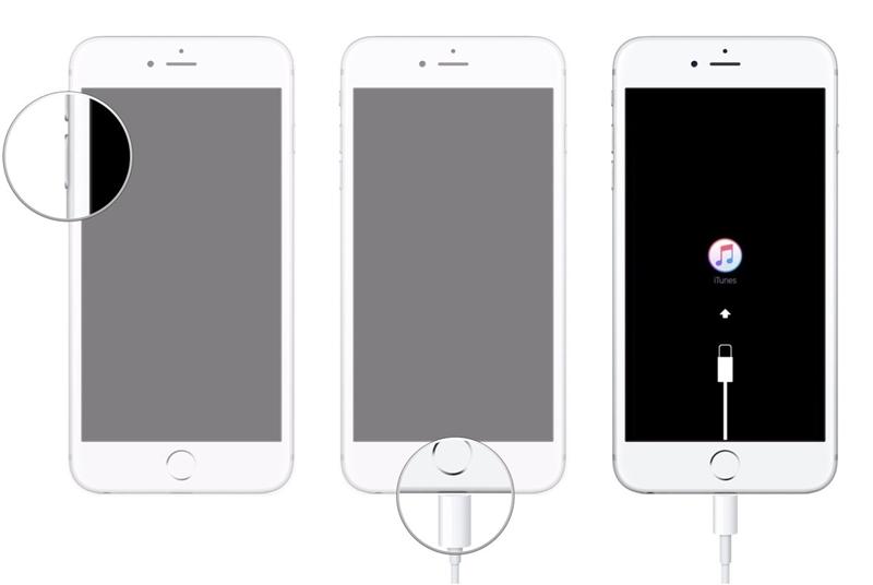 在恢复模式下启动iphone 7