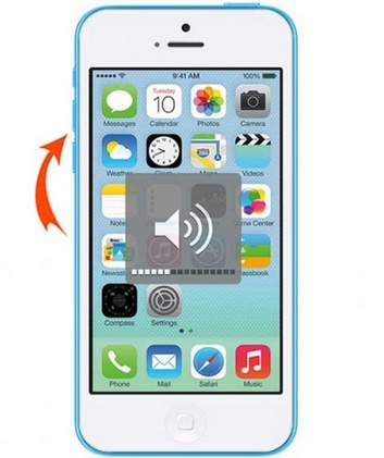 press iphone volume button