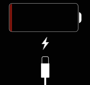 iphone stuck on red charging screen