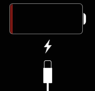 iphone bloqué sur l'écran de charge rouge