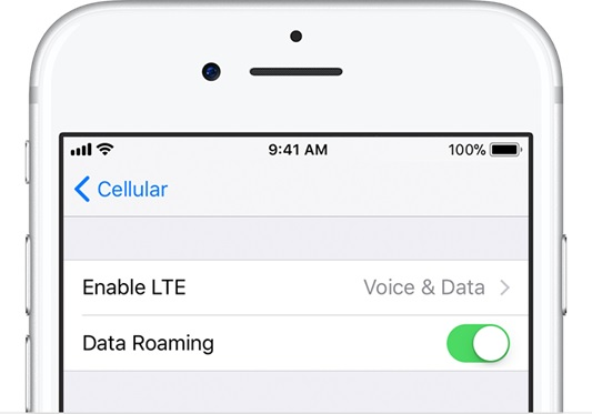 check iphone data coverage