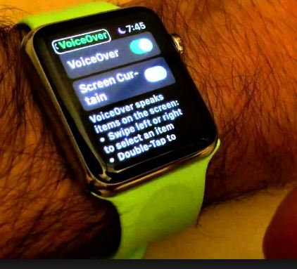 apple watch voice over disabled