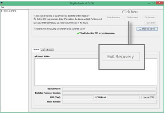 exit iphone recovery mode using tidyumbrella