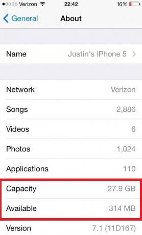 check iphone storage
