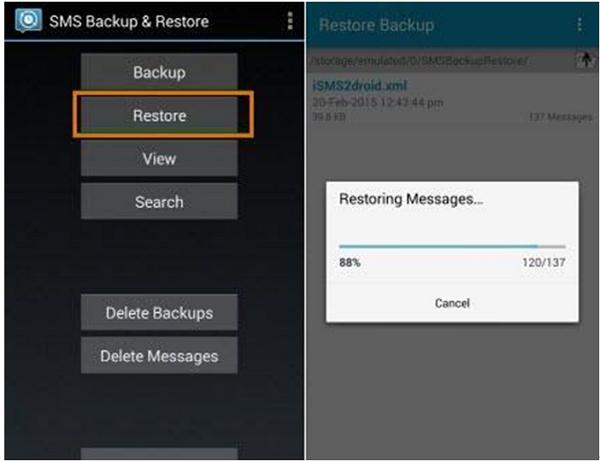 短信备份和恢复应用程序