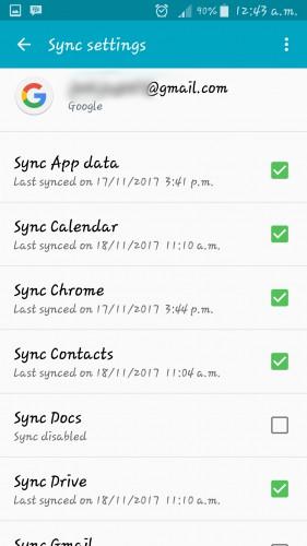 gmail synchronized history