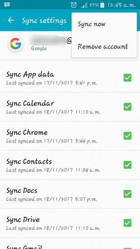 sync gmail now