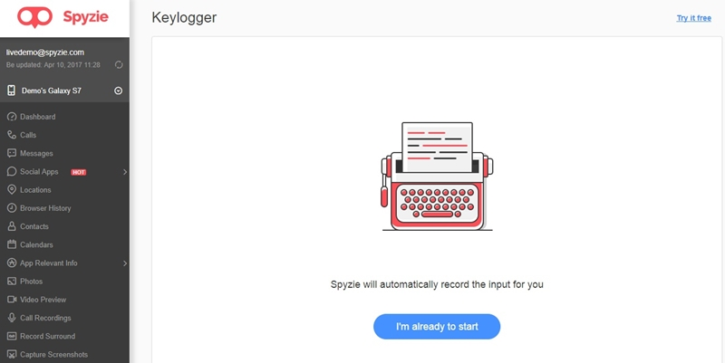snapchat password cracker-key logging feature