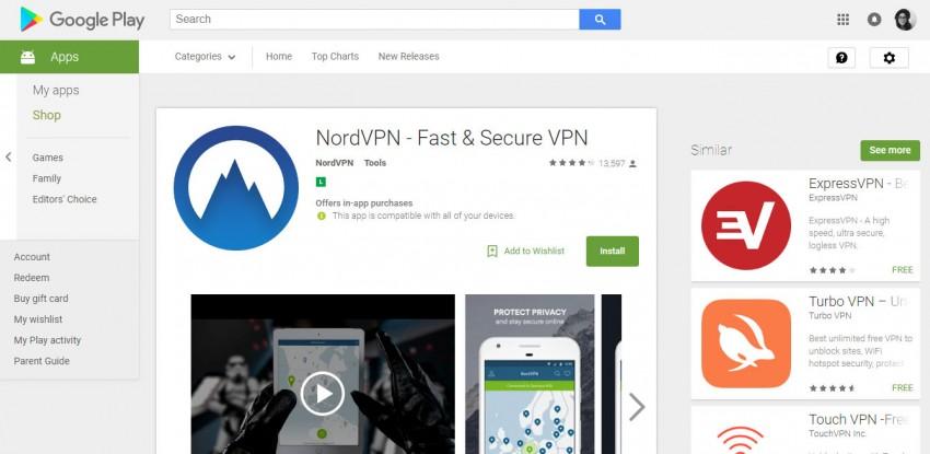install nordvpn on android