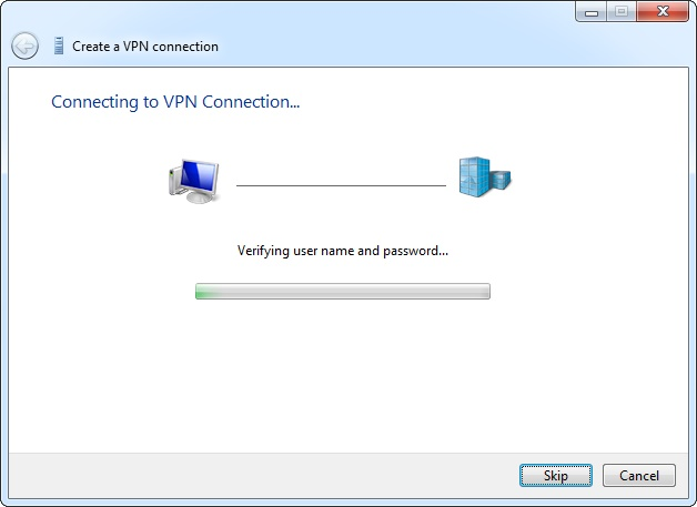 connect vpn on windows 7