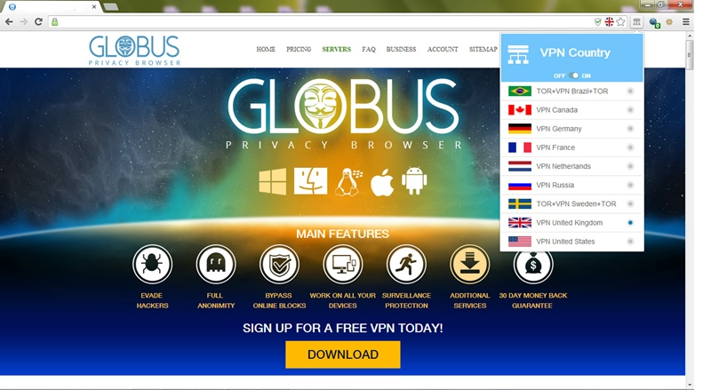 globus vpn android